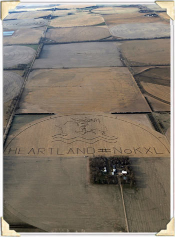 Crop Art Protesting KXL