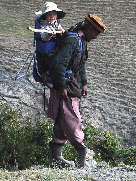 Aedan, with Wakhi Guide, Afghanistan