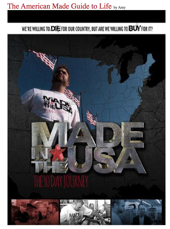 Made in the USA - the 30-day journey