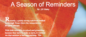A Season of Reminders