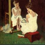 Girl At Mirror - Saturday Evening Post - 1954