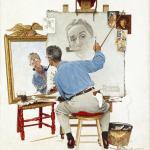 Triple Self-Portrait - Saturday Evening Post - 1960
